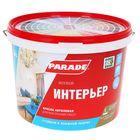 Краска PARADE акриловая W3 интерьерная стойкая к влажной уборке супербелая матовая 10,0л