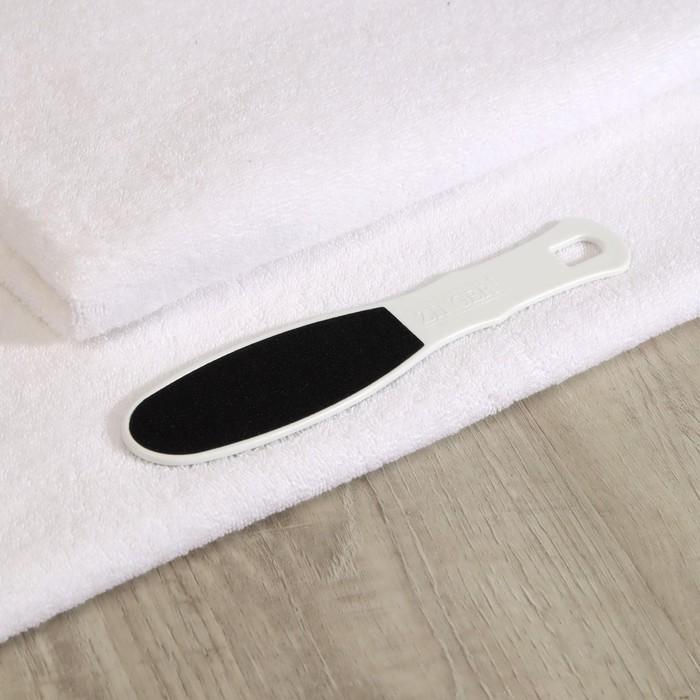 Тёрка для ног, наждачная, двусторонняя, абразивность 100/180, 24 см, цвет белый, RA-13