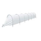 Парник прошитый «Ленивый», длина 6.5 м , 7 дуг из пластика, дуга L = 2 м, d = 20 мм, укрывной материал 42 г/м²