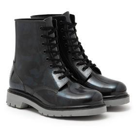 Ботинки женские с утеп. на шнуровке, цвет чёрный, размер 37 Ош