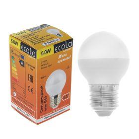 Лампа светодиодная Ecola, 5 Вт, E27, 2700 К, 75x45 мм