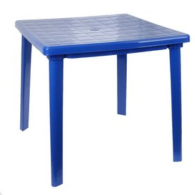 Стол квадратный, размер 80 х 80 х 74 см, цвет синий Ош