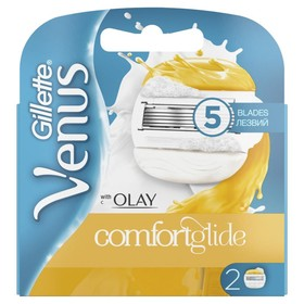 Сменные кассеты для бритья Gillette Venus & Olay ComfortGlide, 2 шт.