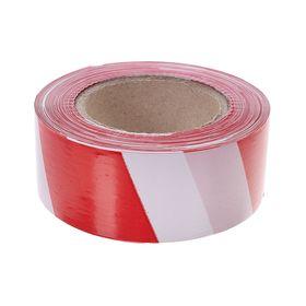 Лента оградительная, эконом, красно-белая, ширина 5 см, 200 м Ош