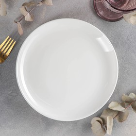 Тарелка десертная Olivia Pro, d=20 см, с утолщённым краем, цвет белый