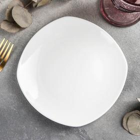 Тарелка пирожковая квадратная Ilona, 16,5×16,5 см, цвет белый