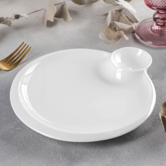 Блюдо круглое Wilmax Teona, d=20 см, с соусником