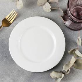 Тарелка десертная Stella «Классика», d=18 см, цвет белый