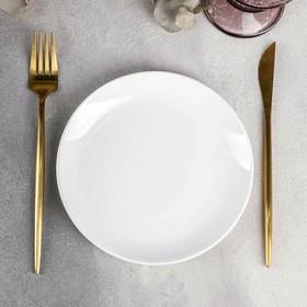 Тарелка пирожковая Olivia Pro, d=18 см, с утолщённым краем, цвет белый