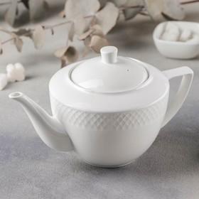 Чайник заварочный «Юлия Высоцкая», 900 мл, цвет белый