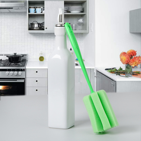 Ёршик для посуды «Тюльпан», 6×26 см, цвет МИКС Ош