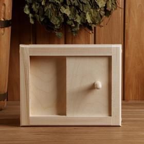 Вентиляционная крышка из липы, 20х25см, с задвижкой, 'Добропаровъ' Ош