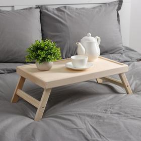 Столик для завтрака белый,складные ножки 50х30см