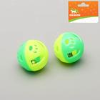 """Набор из 2 шариков-погремушек """"Рыбки"""", диаметр 3,7 см, микс цветов"""