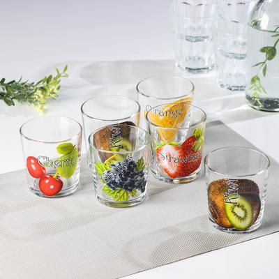 Набор стаканов GiDGLASS «Ассорти», 250 мл, 6 шт, рисунок МИКС