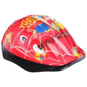 Шлем защитный OT-502 детский, размер S, 52-54 см, цвет красный Ош