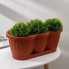 Ящик для цветов с поддоном 40 см 'Гусеница', цвет МИКС Ош