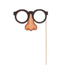 Фотобутафория на палочке «Очки на носу»