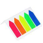 Блок-закладка с липким краем пластик «Стрелки», 25 листов х 5 цветов, флуоресцентный, 12 х 45 мм, в блистере CALLIGRATA