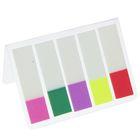 Закладки с клеевым краем, пластиковые, 25 x 44 мм, 5 цветов по 20 листов, в блистере, МИКС