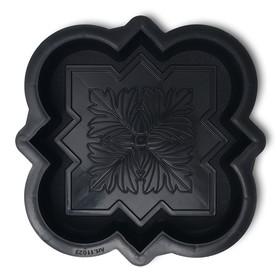 Форма для тротуарной плитки «Клевер краковский малый», 21,5 × 21,5 × 4 см, шагрень, 1 шт. Ош