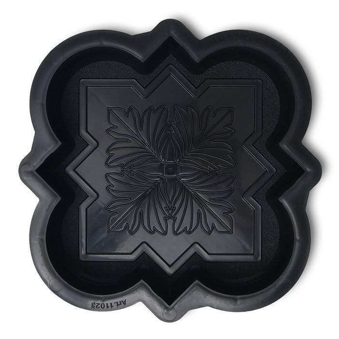 Форма для тротуарной плитки Клевер краковский малый, 21,5  21,5  4 см, шагрень, 1 шт