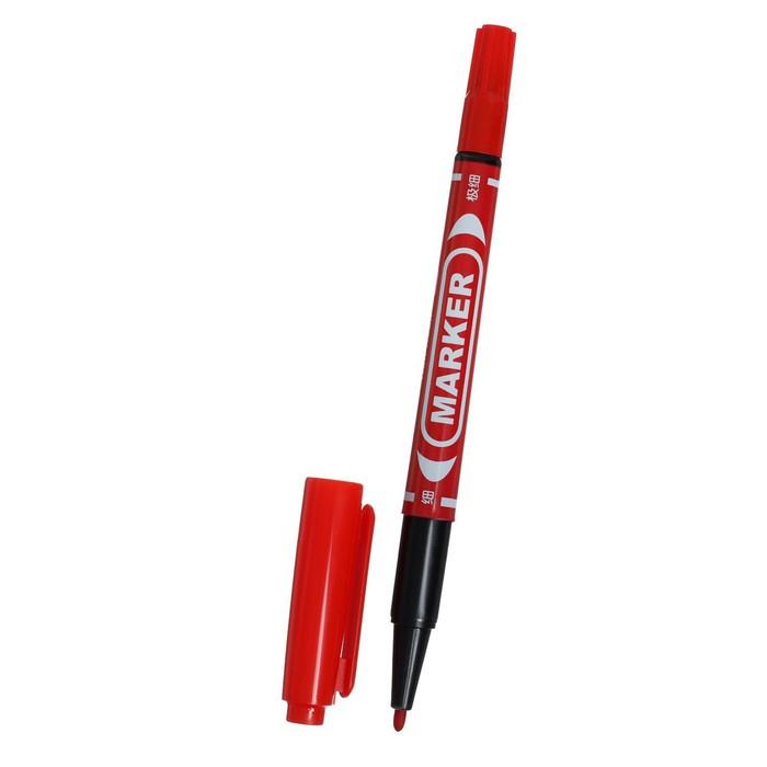 Маркер перманентный, двухсторонний, круглый, 2 мм0.7 мм, красный, CALLIGRATA 1120
