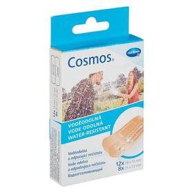 Пластырь-пластинки Cosmos Water-Resistant водоотталкивающий 2 размера, 20 шт