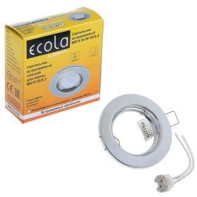 Светильник встраиваемый Ecola, DL90, MR16, GU5.3, 30 x 80 мм, плоский, цвет хром Ош