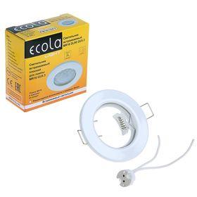 Светильник встраиваемый Ecola, DL90, GU5.3, MR16, 30x80 мм, плоский, белый Ош