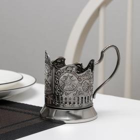 Подстаканник «БМ Катюша», стакан d=6,1 см, никелированный, с чернением