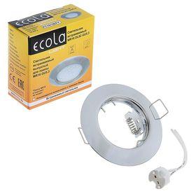 Светильник встраиваемый Ecola DL92, GU5.3, MR16, выпуклый, 30x80 мм, цвет хром Ош