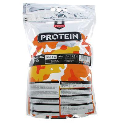 Протеин SportLine Dynamic Whey Protein 85%, лесные ягоды, 3000 г
