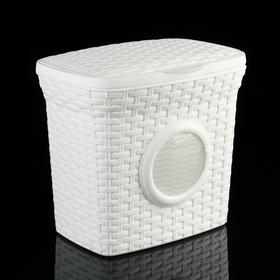 Контейнер для стирального порошка «Ротанг», 10 л, с иллюминатором, цвет белый Ош
