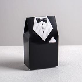 Бонбоньерка свадебная «Костюм жениха», 5.8 × 10 см