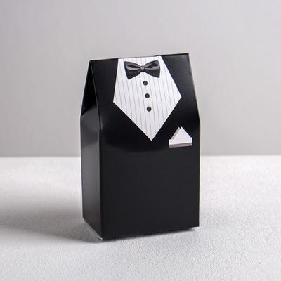 Бонбоньерка свадебная «Костюм жениха», 5.8 × 10 см - Фото 1