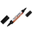Маркер перманентный, двухсторонний, круглый, 5 мм/3 мм, чёрный, CALLIGRATA 1150