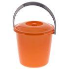 Ведро с крышкой «Соло», 7 л, цвет оранжевый перламутр