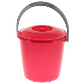 Ведро с крышкой Martika «Соло», 3 л, цвет красный перламутр