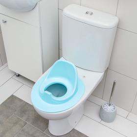 Детская накладка - сиденье на унитаз, цвет голубой Ош