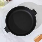Сковорода 24 см, с двумя ушками, с алюминиевой крышкой - Фото 3