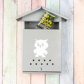 Ящик почтовый с щеколдой, вертикальный «Домик», серый Ош