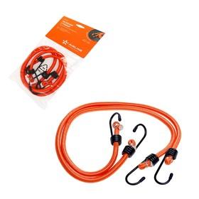 Резинка для крепления багажа, 80 см, d8 мм, металлические крючки, набор 2 шт Ош
