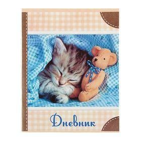 Дневник универсальный 1-11 класс 'Котёнок', мягкая обложка Ош