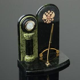 Набор письменный «Герб»: часы, визитница, ручка Ош