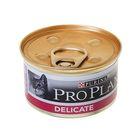 Влажный корм PRO PLAN для кошек с чувствительным пищеварением, индейка, ж/б, 85 г