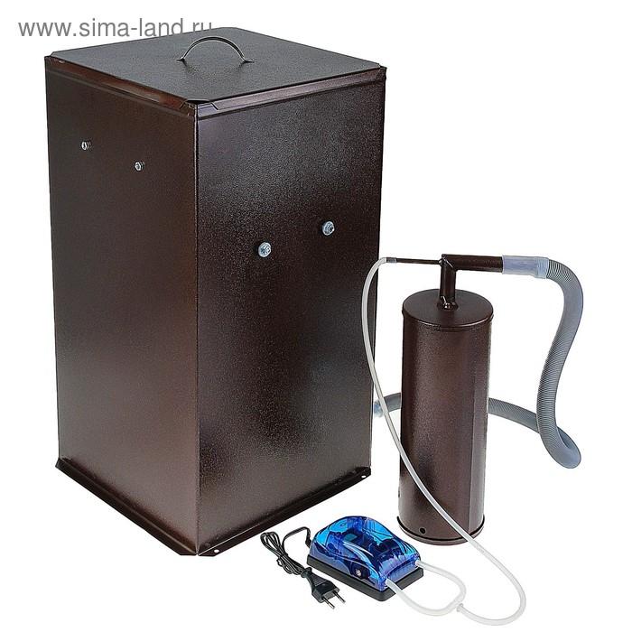 """Коптильня холодного копчения """"Дым Дымыч"""" 01Б, дымогенератор, 50 л, коричневая"""
