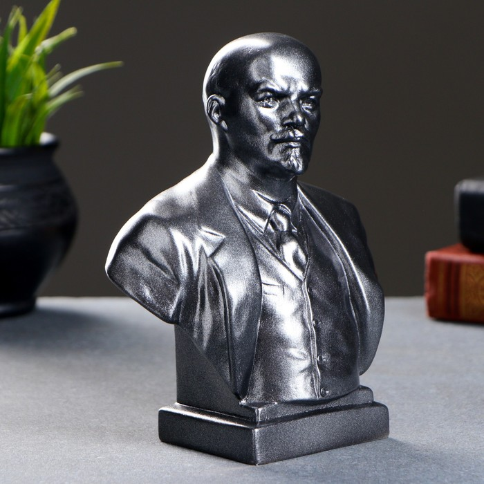 Бюст Ленин большой металлик 19см