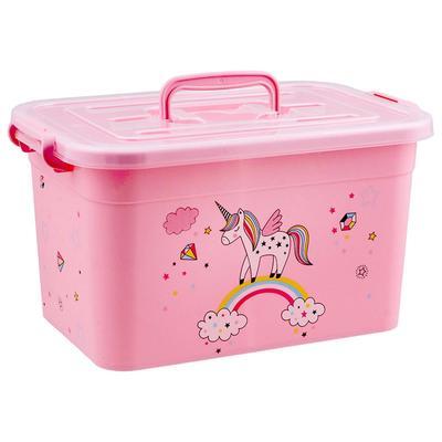 Контейнер для игрушек «Радуга» с крышкой и ручками, 10 л, МИКС - Фото 1
