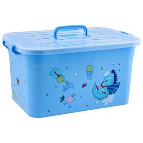 Ящик для игрушек «Радуга» с крышкой и ручками, 15 л, МИКС